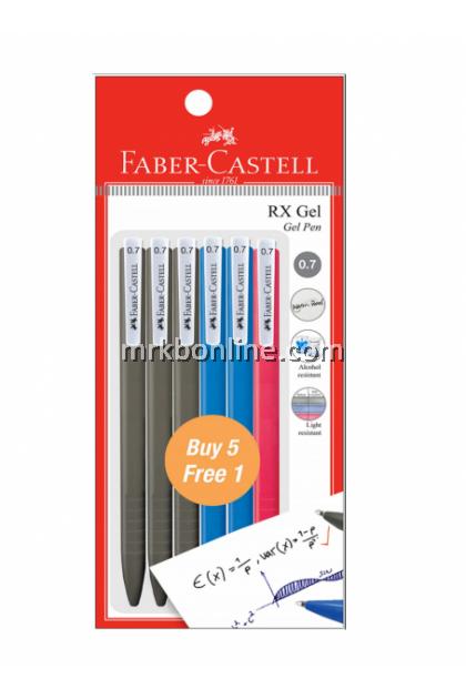 Faber-Castell RX Gel Set (0.7) 540889 (3BLK/2 BLUE /1RED)