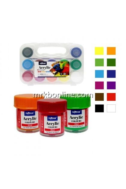 DOLPHIN Acrylic Colours 12'S 20ML DOL-AC616