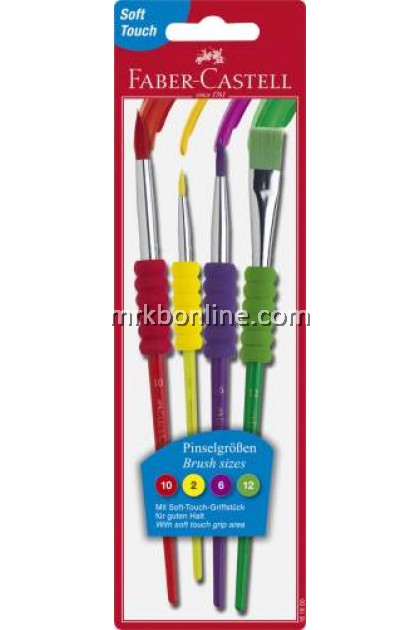Faber-Castell Brush Set (2,6,10,12 /  4,8,10,12) - SOFT TOUCH GRIP AREA