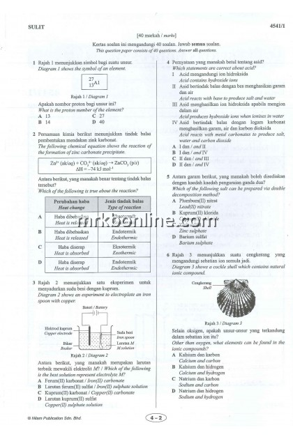[NILAM] Kertas Model SPM Kimia KSSM