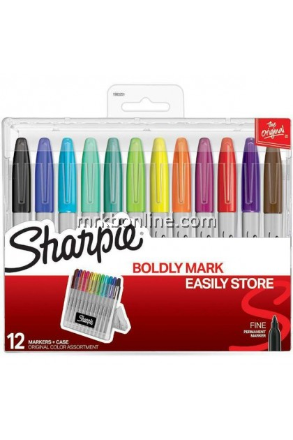 Sharpie Fine Point Permanent Markers - Boldly Mark Easily Store, Set of 12