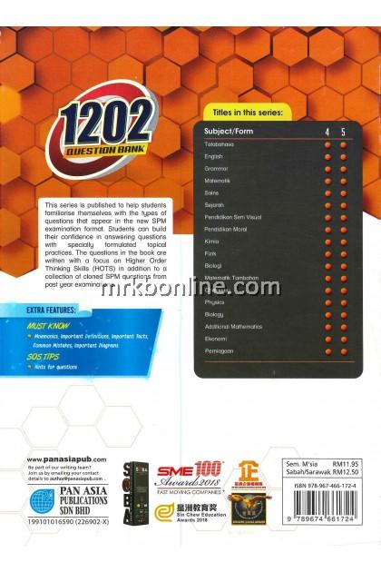 1202 Question Bank Chemistry Form 4 KSSM