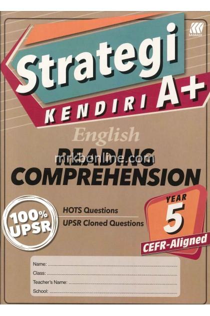 STRATEGI KENDIRI A+ ENGLISH READING CPMPREHENSION YEAR 5 CEFR-ALIGNED