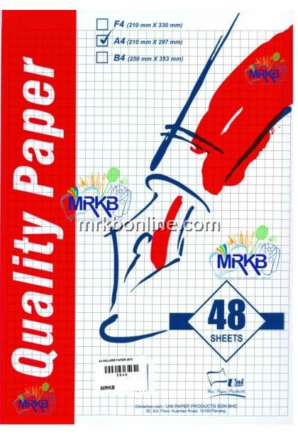 Uni A4 Square Paper 48'S 70GSM QUALITY PAPER