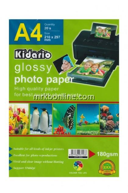 KIDARIO A4 Glossy Photo Paper A4 (20sheets/Pack) KPP-180G