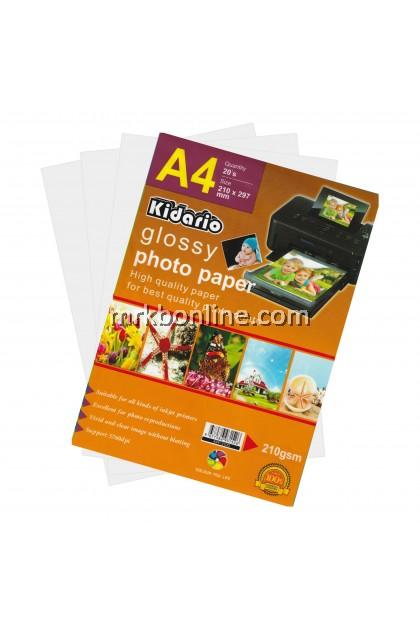 KIDARIO A4 Glossy Photo Paper A4 (20sheets/Pack) KPP-210G